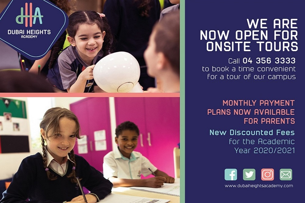 Dubai Heights Academy announces fee structure and monthly payment  plans for new academic year