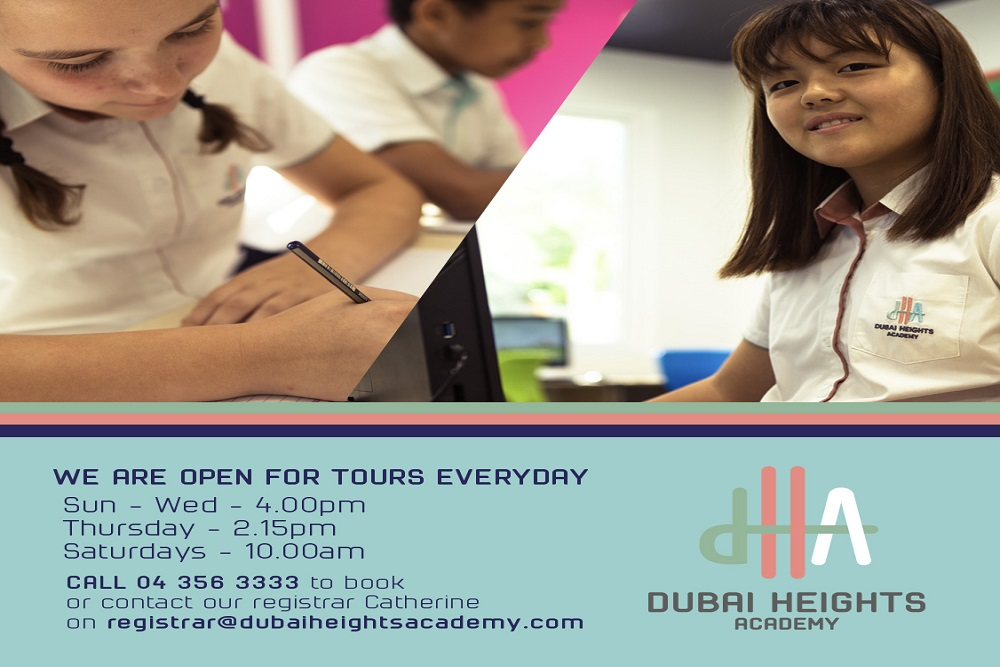 Dubai Heights Academy's new schedule for school tours features latest health & safety measures